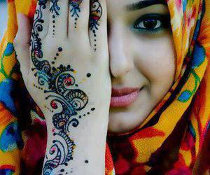 hijab and henna image