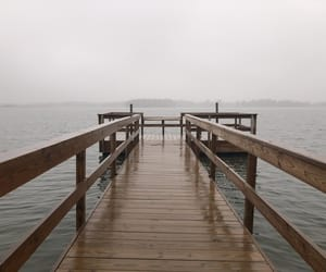 beach, calm, and dock image