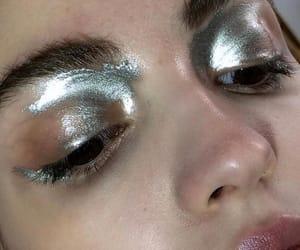 makeup, eyeshadow, and silver image