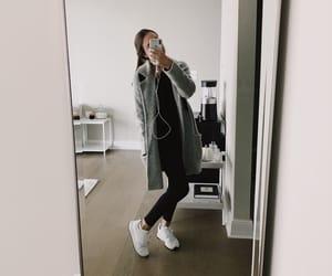 city, leggings, and minimal image