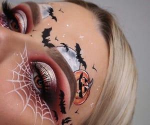 bats, pumpkin, and eyeshadow image