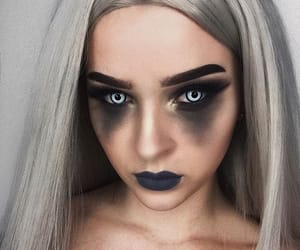 black, Halloween, and makeup image