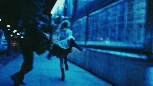 grunge, run, and blue image