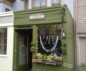 cafe, design, and green image
