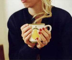 blonde, coffee, and relax image