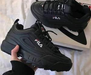 black, Fila, and shoes image