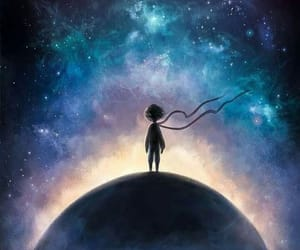 galaxy and little prince image