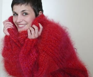 fluffy, knit, and turtelneck image
