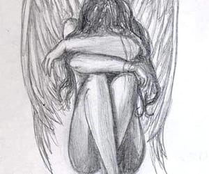 angel, drawing, and art image