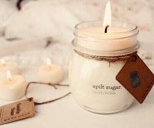 candle, cozy, and fall image