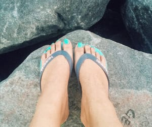 blue, flip-flops, and vsco image