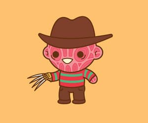 freddy krueger, gif, and trick or treat image