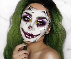 girl, joker, and Halloween image