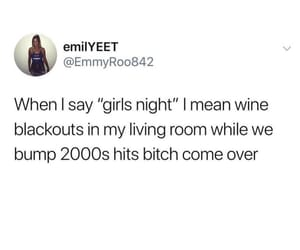 drunk, girl, and night image