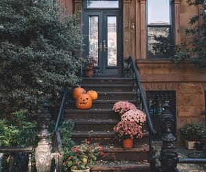 autumn, Halloween, and house image