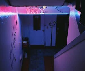 grunge, neon, and dark image