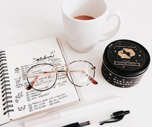 study, glasses, and journal image