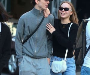 couple, lily rose depp, and love image