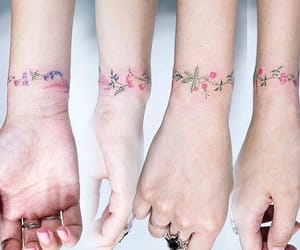 tatoo, flower tatoo, and tatuaggio image