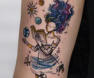 art, book, and tatto image