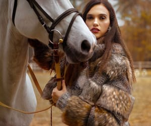 equestrian, fur jacket, and the great outdoors image