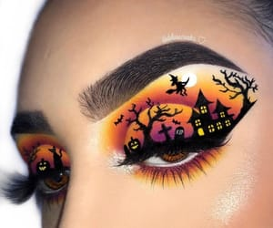 makeup, Halloween, and style image