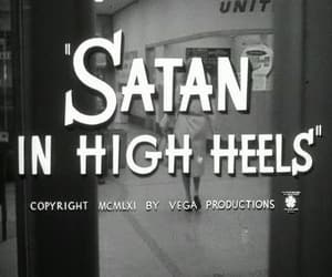 satan, black and white, and high heels image