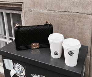 chanel, coffee, and drinks image