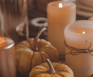 autumn, candles, and close up image
