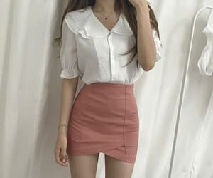 pink, white, and pink skirt image