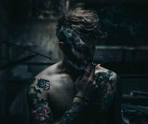 body, smoke, and tattoo image