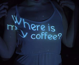 coffee, grunge, and blue image