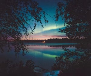 clouds, lights, and finland image