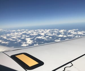 airplane, sky, and sight image
