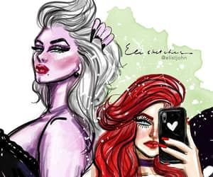 ariel, the little mermaid, and ursula image