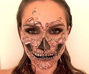 bubbles, face paint, and skeleton image
