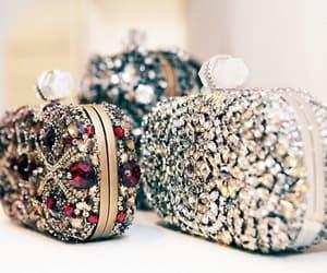 bag, clutch, and diamond image