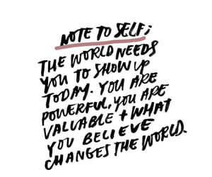 empowerment, words, and love yourself image