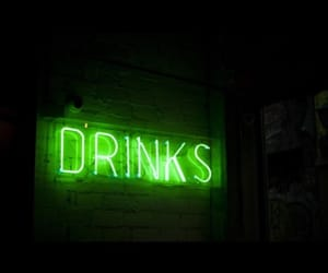 drinks, green, and green light image