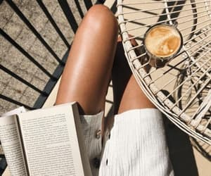 coffee, relaxed, and suntan image