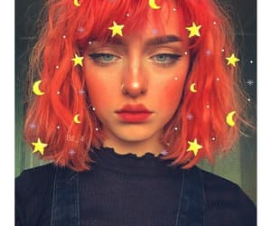girl, red, and makeup image