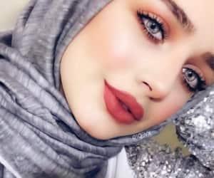 hijab, style, and beauty image