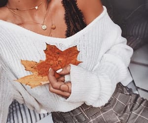 fall, jewelry, and sweater image