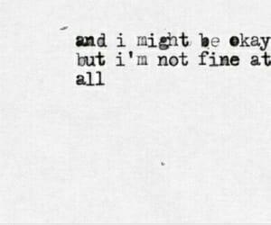 quote, okay, and sad image