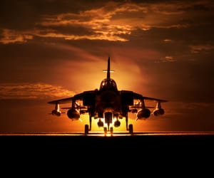 atardecer, aviones, and photographs image