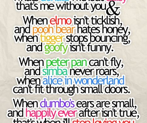 love, disney, and quote image