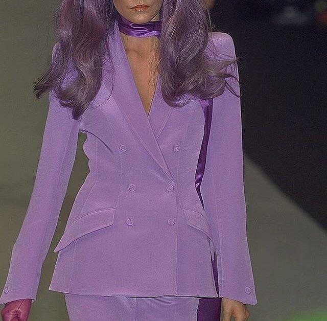 fashion, purple, and model image