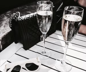 champagne, drinks, and sunglass image