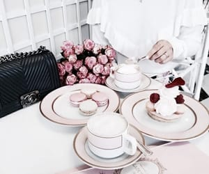 food, flowers, and pink image