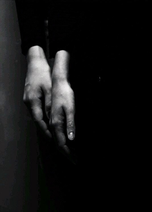 hands, black and white, and photography image